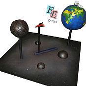 """Дизайн и реклама ручной работы. Ярмарка Мастеров - ручная работа Макет """"Полет на Марс"""", космос. Handmade."""