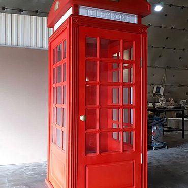 Дизайн и реклама ручной работы. Ярмарка Мастеров - ручная работа Телефонная будка. Handmade.