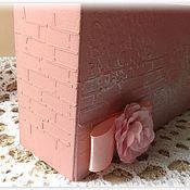 """Для дома и интерьера ручной работы. Ярмарка Мастеров - ручная работа Коробочка для хранения рецептов """"Розовый зефир"""". Handmade."""