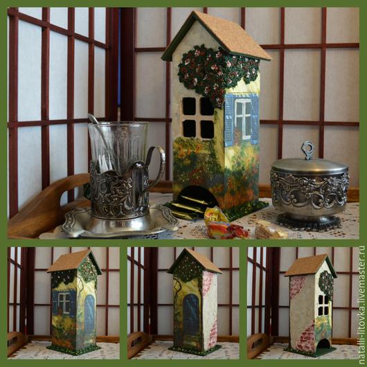 """Кухня ручной работы. Ярмарка Мастеров - ручная работа. Купить Чайный домик """"Уютное чаепитие"""". Handmade. Разноцветный, декор для интерьера"""