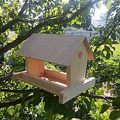"""Для домашних животных, ручной работы. Ярмарка Мастеров - ручная работа Кормушка для птиц с насестом """"ЭКО-Невада"""". Handmade."""