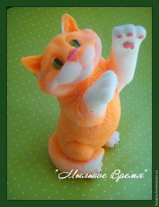 """Мыло ручной работы. Ярмарка Мастеров - ручная работа. Купить Мыло """"Рыжий кот"""". Handmade. Рыжий, основа мыльная"""