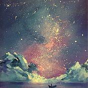Картины и панно ручной работы. Ярмарка Мастеров - ручная работа Ночное небо. Handmade.