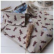 Одежда ручной работы. Ярмарка Мастеров - ручная работа Рубашка с бурыми мишками. Handmade.