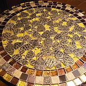 Для дома и интерьера handmade. Livemaster - original item A wrought-iron table with a mosaic