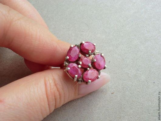 """Кольца ручной работы. Ярмарка Мастеров - ручная работа. Купить кольцо  """"Огненный цветок"""". Handmade. Фуксия, кольцо с рубином"""