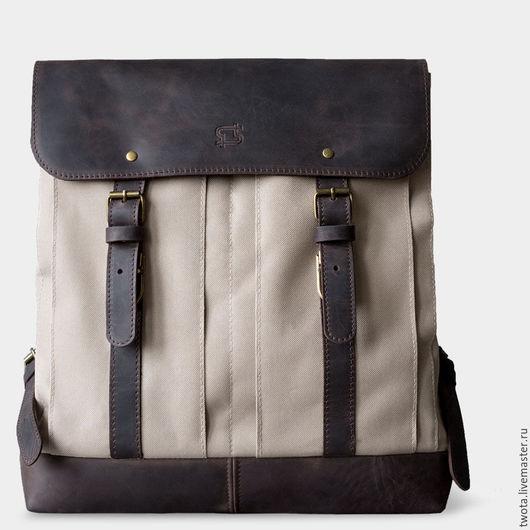 """Мужские сумки ручной работы. Ярмарка Мастеров - ручная работа. Купить Рюкзак """"William"""". Handmade. Рюкзак, сумка, холст"""