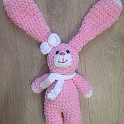 Куклы и игрушки ручной работы. Ярмарка Мастеров - ручная работа Зайка из плюшевой пряжи. Handmade.
