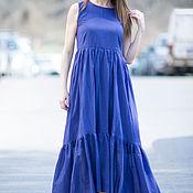 Одежда handmade. Livemaster - original item Summer, long cotton dress - DR0204CT. Handmade.