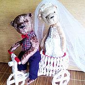 Куклы и игрушки ручной работы. Ярмарка Мастеров - ручная работа Свадебные медведи. Handmade.