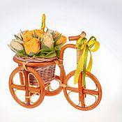 Цветы и флористика ручной работы. Ярмарка Мастеров - ручная работа Велосипед с конфетами. Handmade.