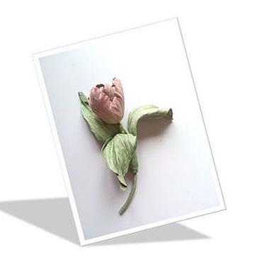 """Украшения ручной работы. Ярмарка Мастеров - ручная работа Тюльпан """"Свежесть весеннего утра"""" брошь из кожи. Handmade."""