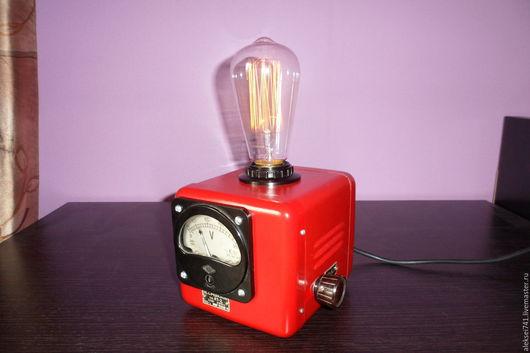 Освещение ручной работы. Ярмарка Мастеров - ручная работа. Купить лофт лампа N3. Handmade. Ярко-красный, димер, металл