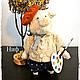 Мишки Тедди ручной работы. Ярмарка Мастеров - ручная работа. Купить Тедди - поросенок Ниф (есть выкройка). Handmade. Тедди