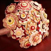 """Свадебный салон ручной работы. Ярмарка Мастеров - ручная работа Букет """"Брусника в карамели"""". Handmade."""