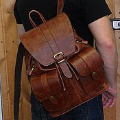 Сумки и аксессуары handmade. Livemaster - original item Backpack leather city 59. Handmade.