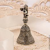 """Колокольчики ручной работы. Ярмарка Мастеров - ручная работа Колокольчик """"Жемчужный ангел"""" (бронза, серебро). Handmade."""
