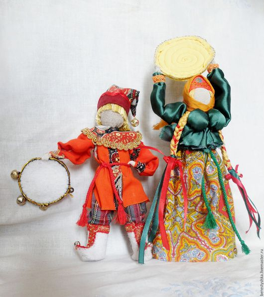 Народные куклы ручной работы. Ярмарка Мастеров - ручная работа. Купить авторская кукла Скоморох. Handmade. Скоморох, бубен, войлок