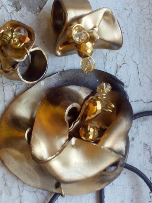 """Комплекты украшений ручной работы. Ярмарка Мастеров - ручная работа. Купить """"Золото партии викингов"""" подвеска и кольцо. Handmade."""