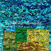 Материалы для творчества ручной работы. Ярмарка Мастеров - ручная работа Листы пауа разноцветные (синий/зеленый/желтый/чайный/охра. Handmade.
