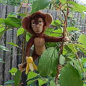 Куклы и игрушки handmade. Livemaster - original item The Monkey Chita.(toy from felt.). Handmade.