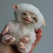 Куклы и игрушки ручной работы. Ярмарка Мастеров - ручная работа Монстрик альбинос. Handmade.