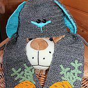 """Работы для детей, ручной работы. Ярмарка Мастеров - ручная работа """"Зая"""" Осенняя шапка с шарфом для ребенка. Handmade."""