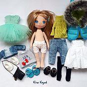 Куклы и игрушки ручной работы. Ярмарка Мастеров - ручная работа Кукла с набором одежды №12. Handmade.