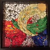 """Картины и панно ручной работы. Ярмарка Мастеров - ручная работа Мозаика, Панно """"Всплеск цвета"""". Handmade."""