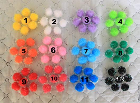 Другие виды рукоделия ручной работы. Ярмарка Мастеров - ручная работа. Купить Помпоны 2см (12 расцветок). Handmade.
