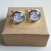 Украшения handmade. Livemaster - original item Silver plated cufflinks Dad. Handmade.