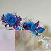Украшения handmade. Livemaster - original item Silk flowers hair wreath. Handmade.
