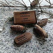 Сувениры и подарки handmade. Livemaster - original item Wooden flash drive with engraving in a box, souvenir. Handmade.