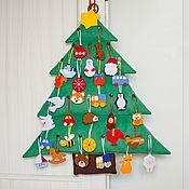 Куклы и игрушки ручной работы. Ярмарка Мастеров - ручная работа Новогодняя ёлочка с игрушками. Handmade.
