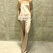 Одежда ручной работы. Ярмарка Мастеров - ручная работа Костюм в пижамном стиле Design Luxe. Handmade.