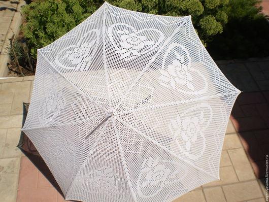 Зонты ручной работы. Ярмарка Мастеров - ручная работа. Купить Зонт Очарование Ажура. Handmade. Свадебный зонт, хлопок 100%