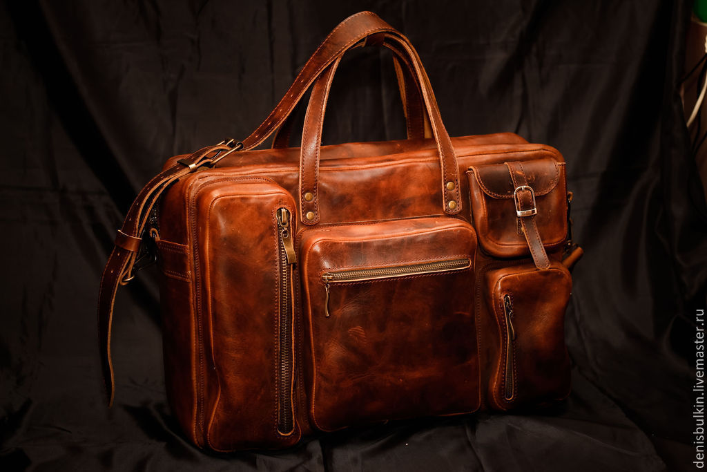 Bag made of thick leather, Classic Bag, Penza,  Фото №1