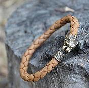 Украшения handmade. Livemaster - original item Bracelet leather - Lynx. Handmade.