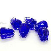 handmade. Livemaster - original item Lampwork beads cobalt buds. Handmade.