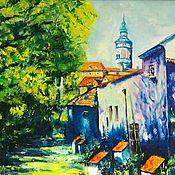 Pictures handmade. Livemaster - original item Oil painting cityscape Czech Republic. Handmade.