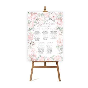 """Свадебный салон ручной работы. Ярмарка Мастеров - ручная работа План рассадки гостей """"Розовый сон"""". Handmade."""