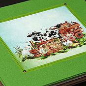 """Канцелярские товары ручной работы. Ярмарка Мастеров - ручная работа Детский фотоальбом """"Моя ферма"""". Handmade."""