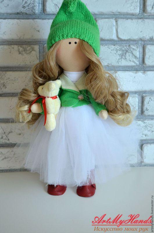 Коллекционные куклы ручной работы. Ярмарка Мастеров - ручная работа. Купить Интерьерная кукла Гномочка. Handmade. Зеленый, кукла текстильная