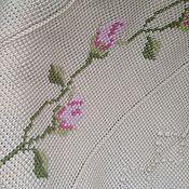 Для дома и интерьера ручной работы. Ярмарка Мастеров - ручная работа Плед-покрывало ручной работы Шеби шик тунисский крючок+вышивка. Handmade.