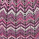 Платья ручной работы. Платье крючком Розовое миссони. Кружево ручной работы(Tanuscha). Ярмарка Мастеров. Разноцветный, полосатое платье