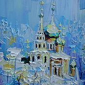 Картины и панно handmade. Livemaster - original item Oil painting Peaceful coolness. Handmade.