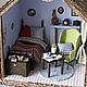Кукольный дом ручной работы. Заказать Маленький дачный домик. Другой мир. Ксения Сетявина.. Ярмарка Мастеров. Домик для кукол