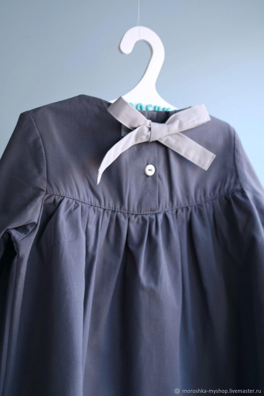 Платье для девочки Темно-серое