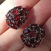 Earrings handmade. Livemaster - original item Garnet earrings
