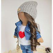 Куклы и игрушки ручной работы. Ярмарка Мастеров - ручная работа Текстильная интерьерная кукла Monica. Handmade.